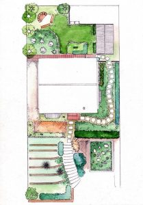 Cape Town_garden plan_layout_colour_mixed media_watercolour_painting_pencil_drawing_illustration 2