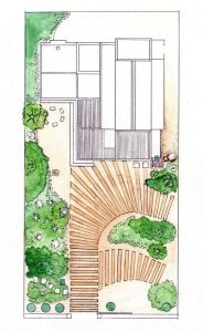 Scarborough_garden plan_landscape_layout_colour_mixed media_watercolour_painting_pencil_drawing_illustration 2