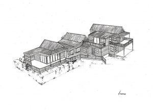Simons Town 1_house_design_layout_perspective_elevation_pencil_graphite_drawing_illustration 2