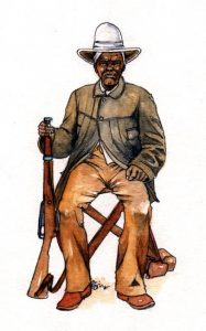 african_boerwar_soldier_historical_mixed media_watercolour_painting_pencil_drawing_book_illustration 2