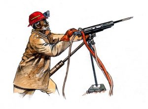 african_miner_mixed media_watercolour_painting_pencil_drawing_book_illustration 2