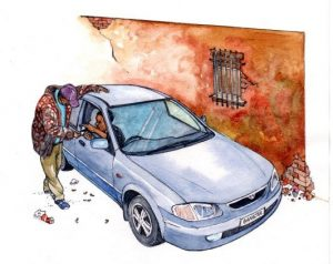 drug deal_backstreet_mixed media_watercolour_painting_pencil_drawing_book_illustration 2