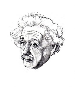 einstein_portrait_people_mixed media_watercolour_painting_pencil_drawing_book_illustration 2