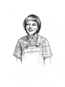 scout_finch_To Kill a Mockingbird_story_novel_mixed media_watercolour_painting_pencil_drawing_book_illustration 2