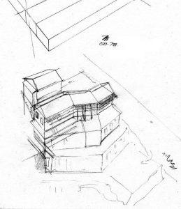 west 1_house_renovation_landscape_design_layout_perspective_elevation_pencil_graphite_drawing_watercolour_illustration 2