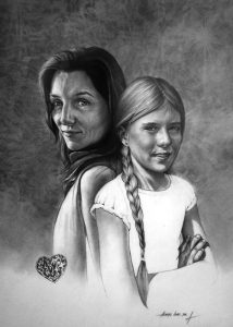 Alison and Franky_charcoal_portrait_drawing