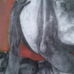 Block 29_mixed media_charcoal_drawing_acrylic_painting_male_nude_study_figurative