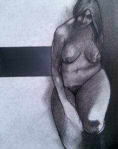 Block 38_mixed media_charcoal_drawing_pastel_female_nude_study_figurative