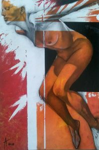 Block 41_mixed media_charcoal_drawing_acrylic_painting_female_nude_study_figurative