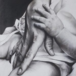 Kais 13th_charcoal drawing_detail