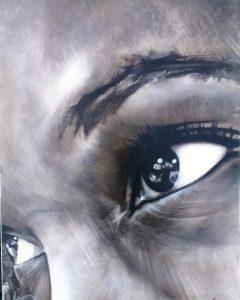 Leketi_mixed media_acrylic_charcoal_portrait_painting_drawing