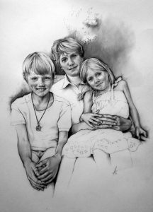 The Montagues__children_kids_family_charcoal_portrait_drawing