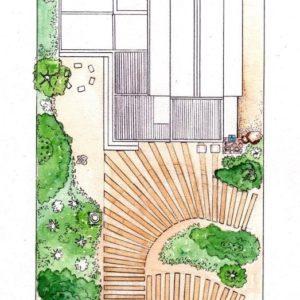 Scarborough garden plan layout colour 2