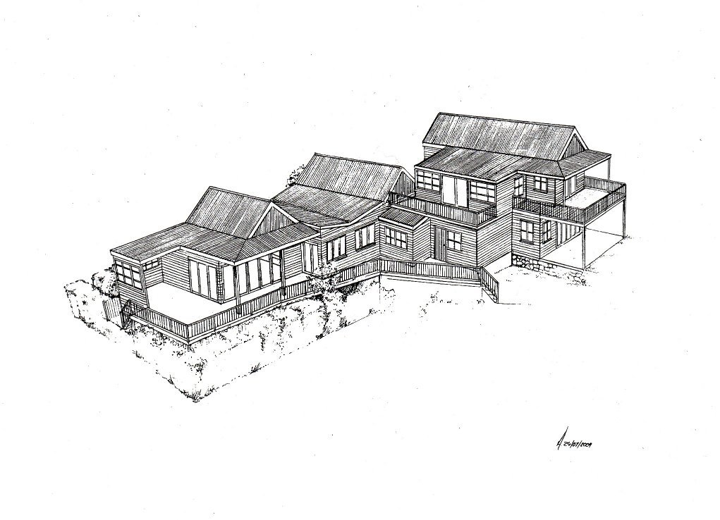 Simons Town 1 house design layout perspective elevation graphite 2