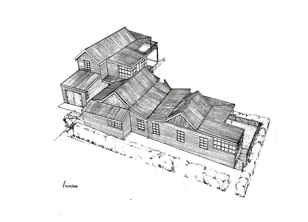 Simons Town house design layout perspective elevation graphite 2
