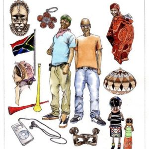 South African traditional artefacts culture people flag ipod book 2