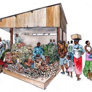 African people vegetable farmers market traders book 2