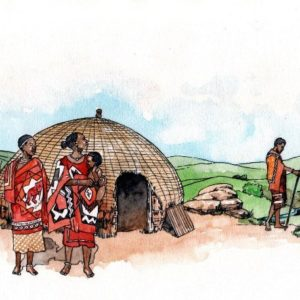 African traditional tribal homestead book 2