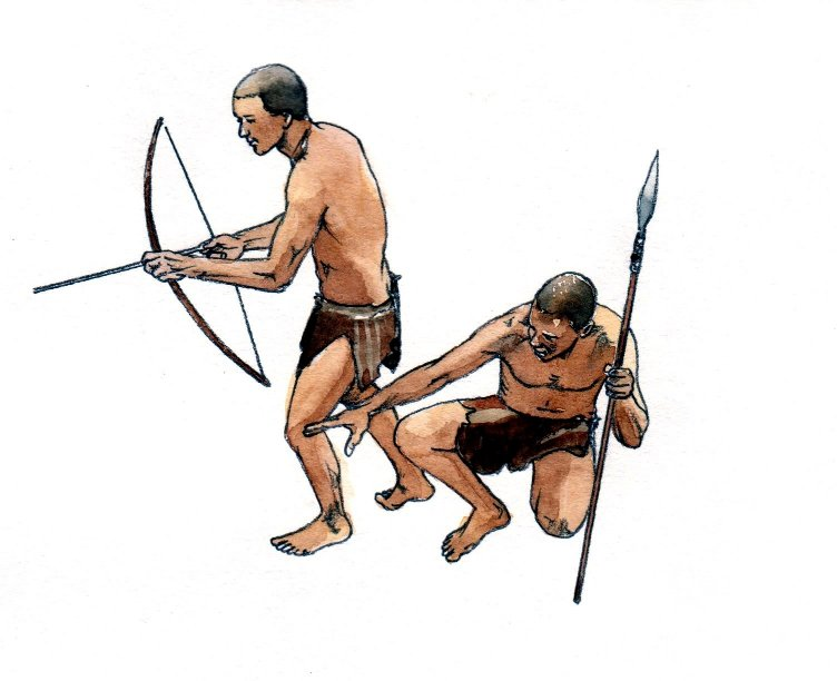 Bushmen hunting african historical book 2