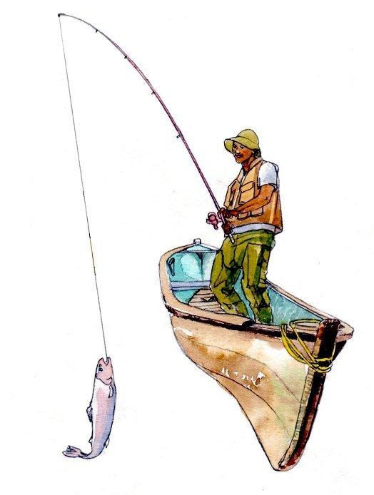 Fisherman boat fish fishing book 2