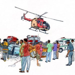 People accident rescue helicopter medical book 2