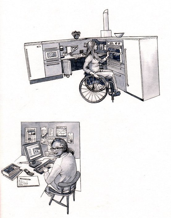 People working disabled able bodied book 2