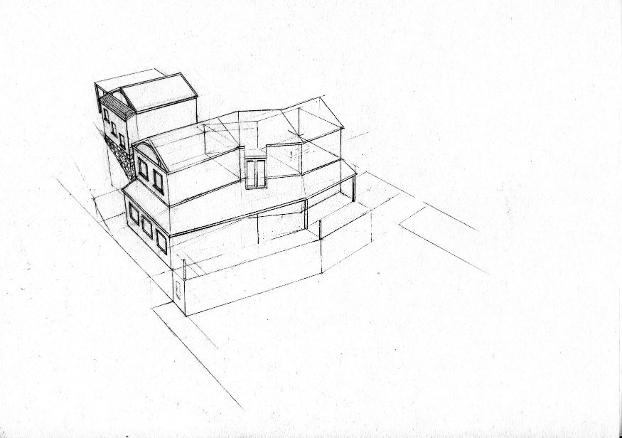West 2 house renovation design layout perspective elevation graphite 2