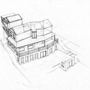 West 3 house renovation design layout perspective elevation graphite 2