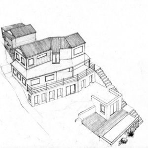 West 4 house renovation design layout perspective elevation graphite 2