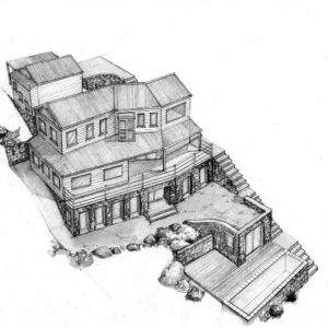 West 5 house renovation design layout perspective elevation graphite 2