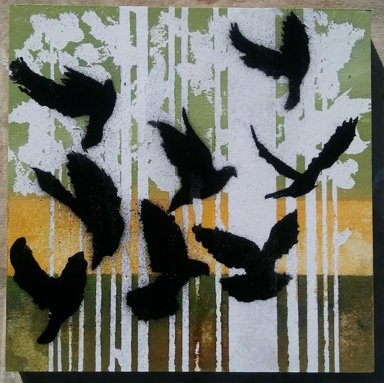 Block 12 In flight stencil