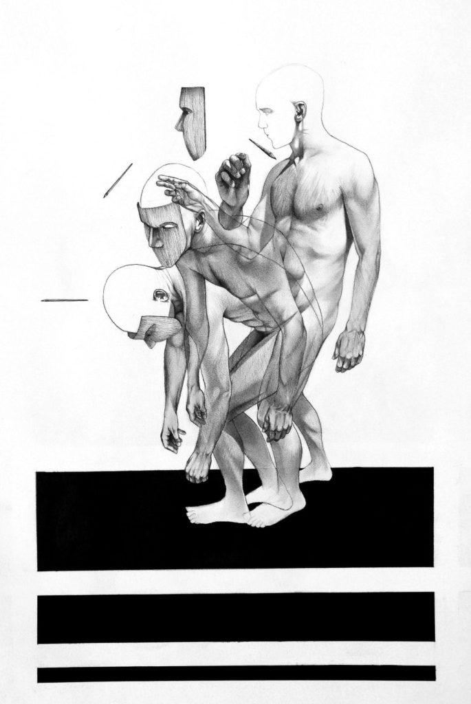 Slackass Rising Too 2005 on male nude figure artist